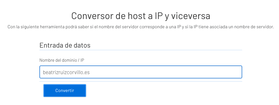 Conversor host a IP